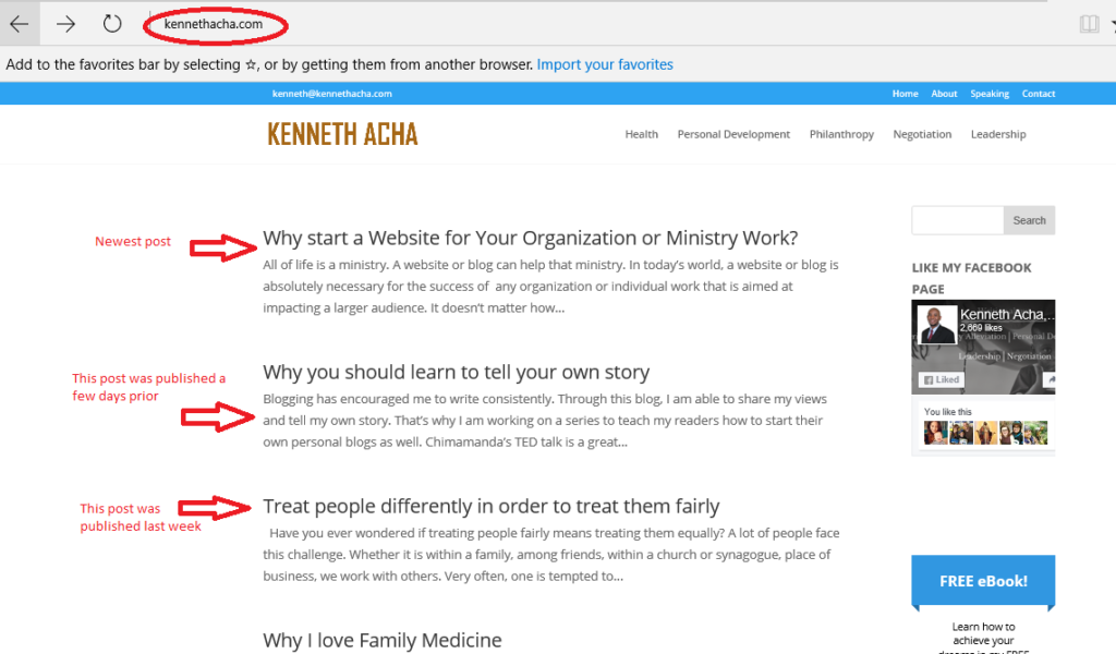 Blog Example - home page